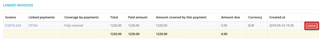 Client payment linked invoices section.png