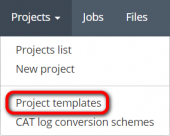 Projects menu project templates.png