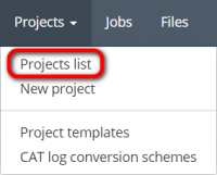 Projects menu project list.png